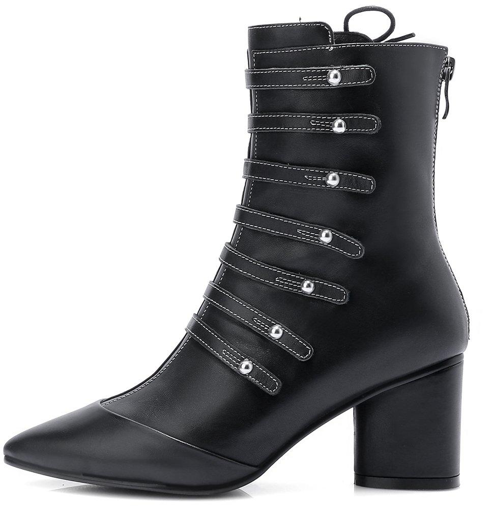 ELEHOT Womens 19993 Elemodel 6.5CM Black mid-heel Boots ELEHOT Black  6572d79 - v73x.website e750c61a8ca8