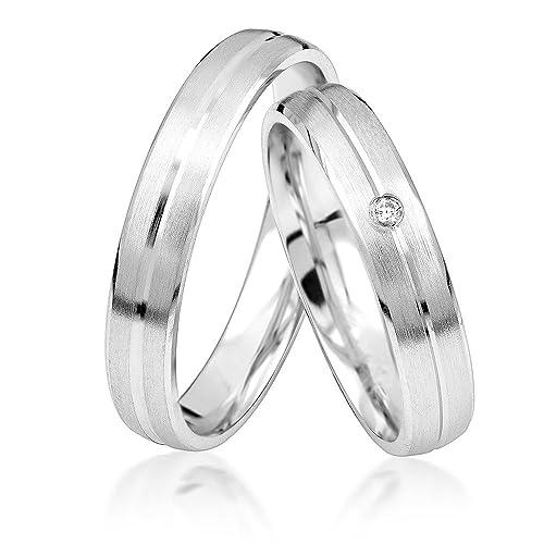 JC Silver Collection - aAlianzas/ alianzas de anillos de compromiso/a Amistad, Anillos Pplata de ley 925, * Incluye Iincluye Eestuche y piedras ...