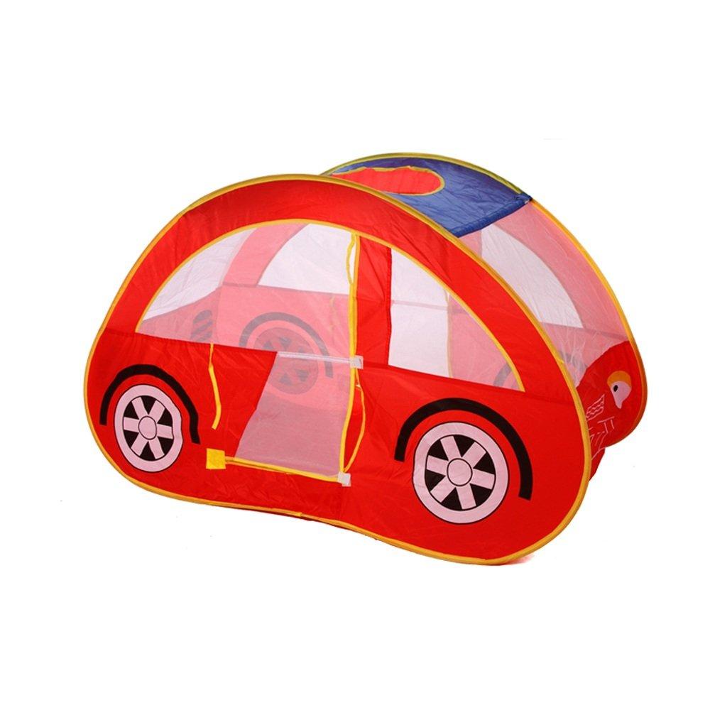 wadwo Tienda del juego de los niños del pop-up, modelo rojo del coche que compone los juguetes interiores y al aire libre de la casa de la bola del océano Tienda pequeña 126  80  los 70cm (no incluy