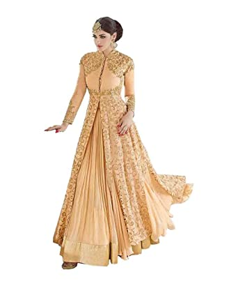 Stylish Fashion Women s Designer Light Yellow Party Wear indo Western  Salwar Suit  Amazon.in  Clothing   Accessories 8504baa4a3e9