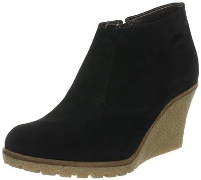 8d29d93d6d5 ESPRIT Womens Kiwi Ankle Wedge Ankle Boots Black Schwarz (black 001) Size   6.5