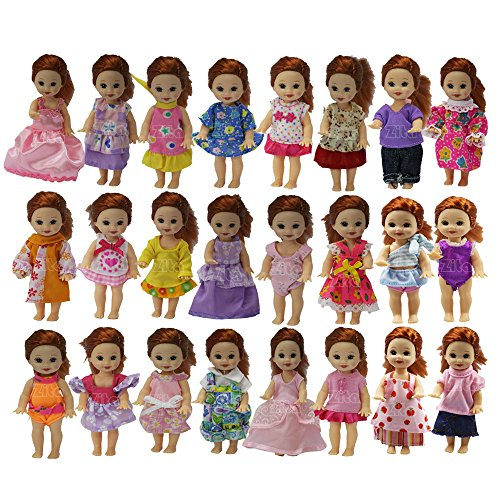 Kelly Doll Clothes (ZITA ELEMENT SET OF 10 Handmade Cute Fashion Party Outfit for Barbie's Sister Kelly Size Doll)