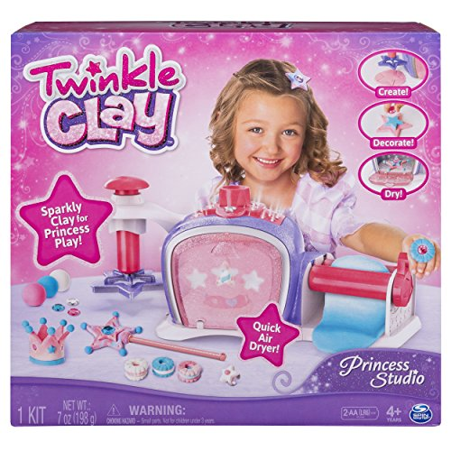 Twinkle Clay - Princess Studio, Makes Sparkly Air-Dry Clay Creations, for Ages 4 and Up ()