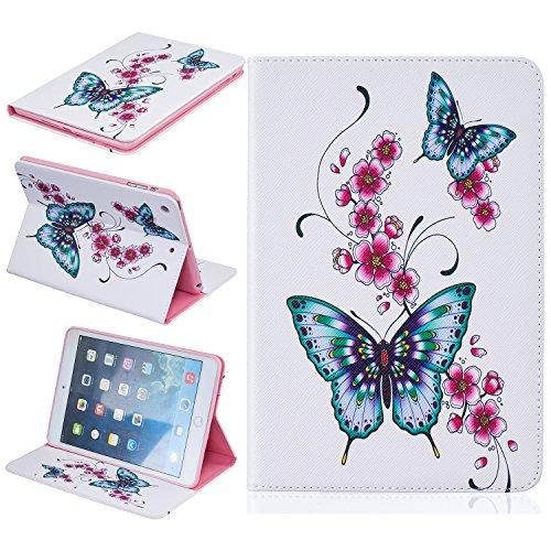 BONROY ® Tablet Apple iPad Mini 1/2/3 Hülle Etui Case Mode gemalt Muster Telefon-Kasten mit Standfunktion Karteneinschub und Magnetverschluß für Apple iPad Mini 1/2/3