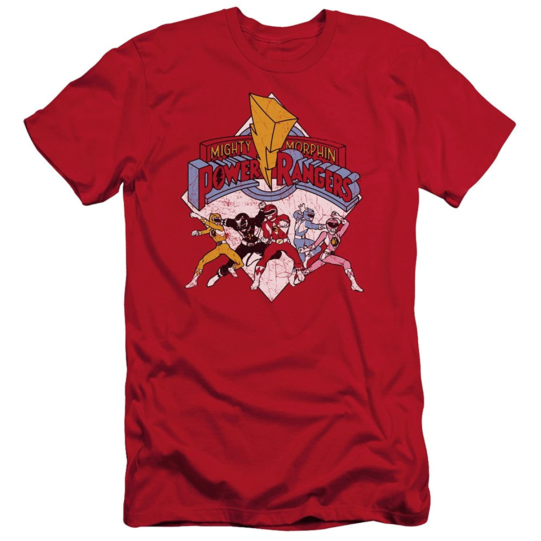 Power Rangers - Mens Retro Rangers Slim Fit T-Shirt