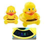 Enshey Baby Bath Floating Duck Toy and Bath Tub Thermometer wimming Pool Thermometer Baby Bath Thermometer Bathtub Water Temperature Tester Toy Thermometer for Baby Bathing Safety