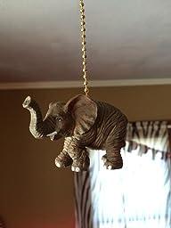 African Safari Elephant Nursery Porch Ceiling Fan Pull