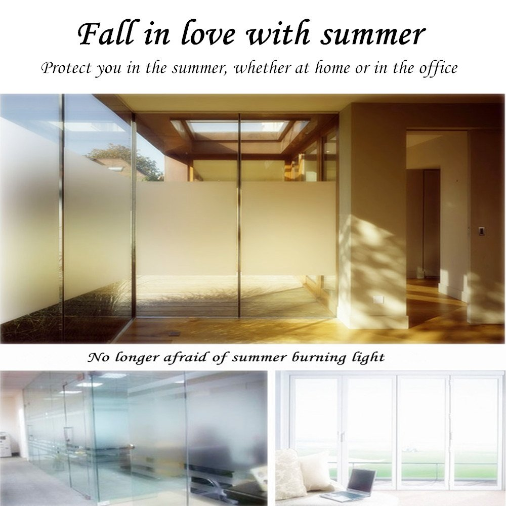 35.6by78.7 Inch Window Film Frosted Window Film Privacy Window Film Decorative Window Film Static Cling Window Film Suitable for All Kinds of Smooth Glass Surface by Beautyhero (Image #6)