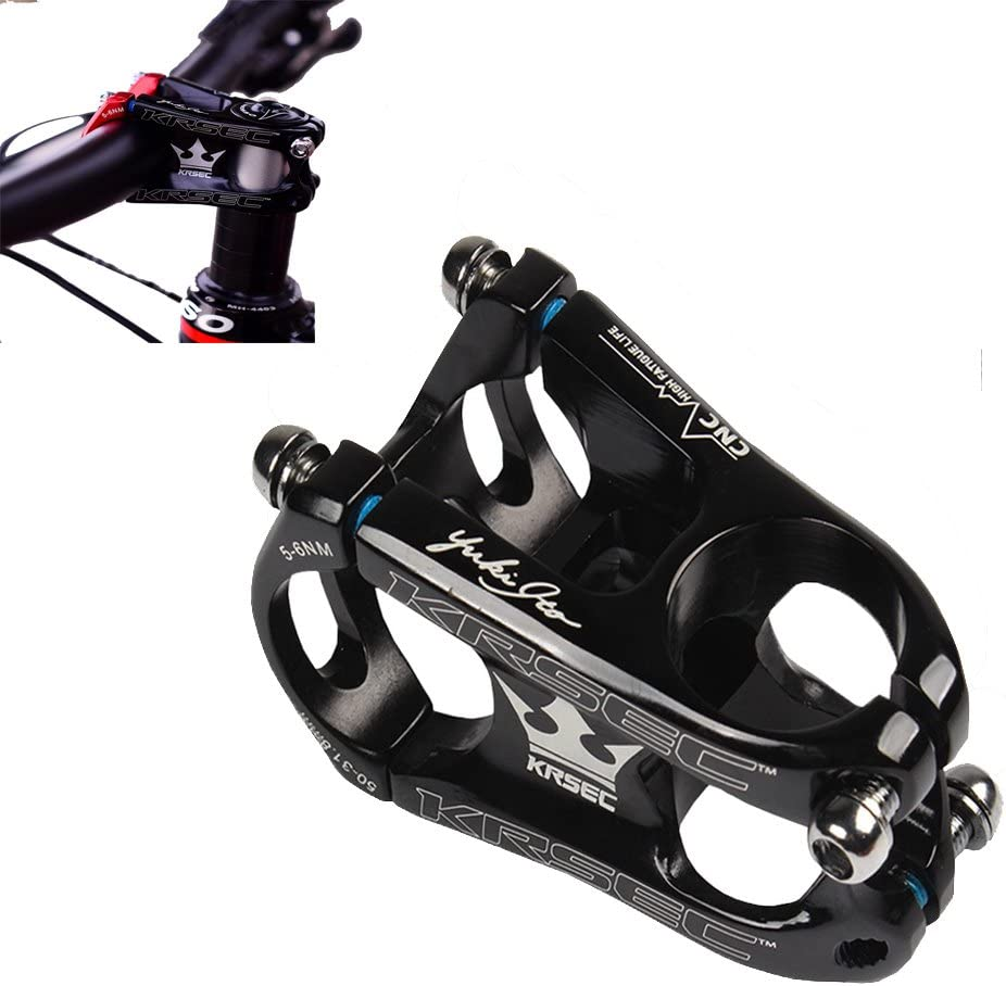 Fixie Gear 31.8 Stem 50mm Bike Stem Mountain Bike Stem Short Handlebar Stem for Most Bicycle BMX Cycling Road Bike MTB