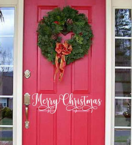 Amazon.com: Merry Christmas Holiday door decal decor outdoor living ...