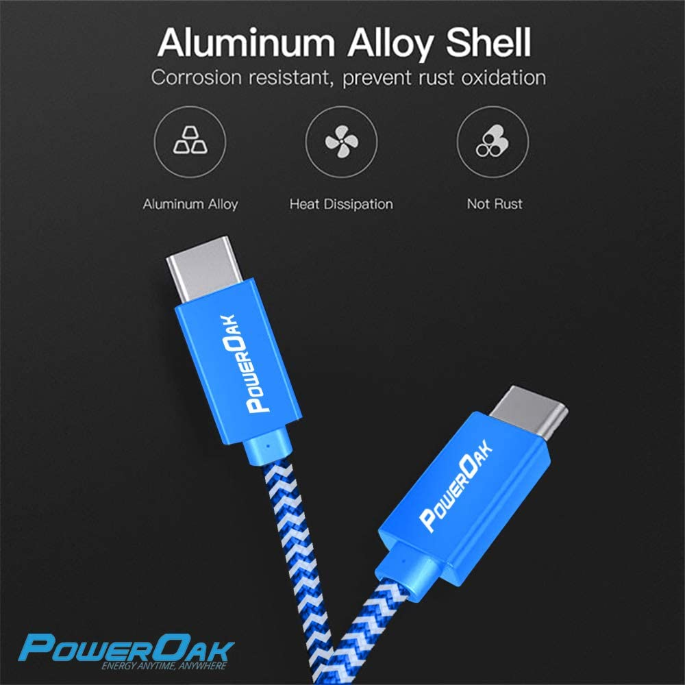 PowerOak C1 USB C to USB C 3.1 Gen2 Cable