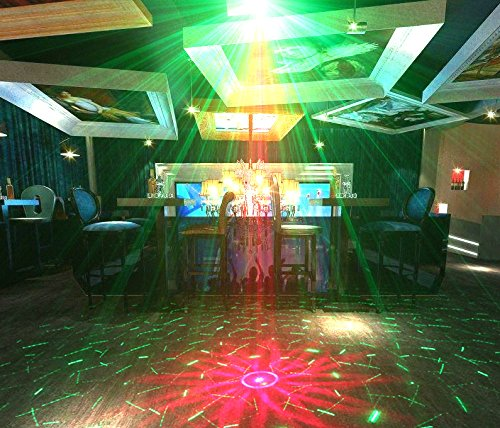 Suny Mini Stage Laser Light 3 Lamps 40 Rg Patterns Auto