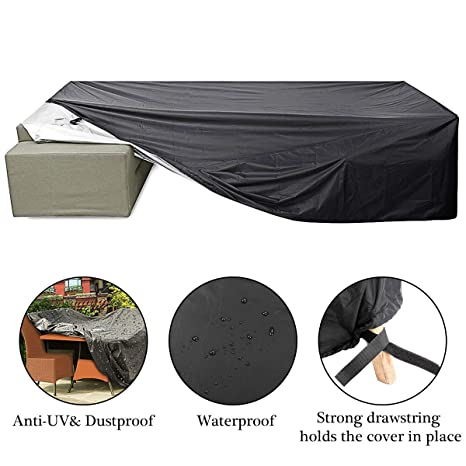 Patio Cover, Essort Outdoor Furniture Lounge Porch Sofa Waterproof Dust  Proof Protective Loveseat Covers 315