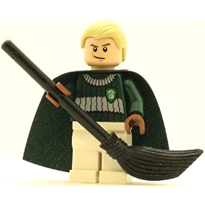 LEGO Harry Potter Minifig Draco Malfoy Dark Green and White Quidditch Uniform: Toys & Games