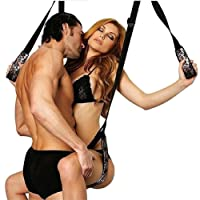 titivate Sex Schaukel Bondage Sexy Lover Games Toys Hanging Sex Swing Erogenous Hands And Feet Fasteners Auxiliary Aulte Erotic Rotating Equipment Velvet Black