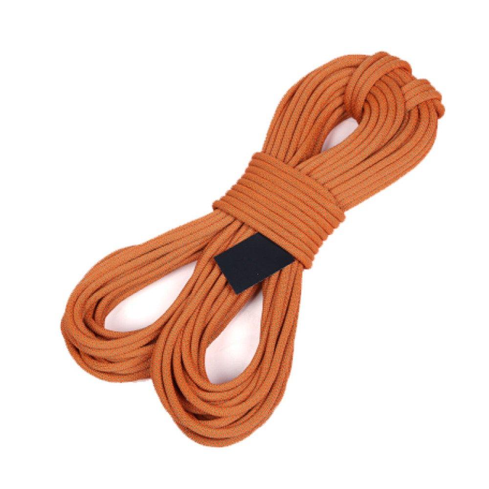 Orange Rock climbing ropes Cordes d'escalade en Plein Air Fire Escape Sécurité Corde De Sauvetage Corde De Descente Usure Aérienne,Orange-10m12mm 40m10.5mm