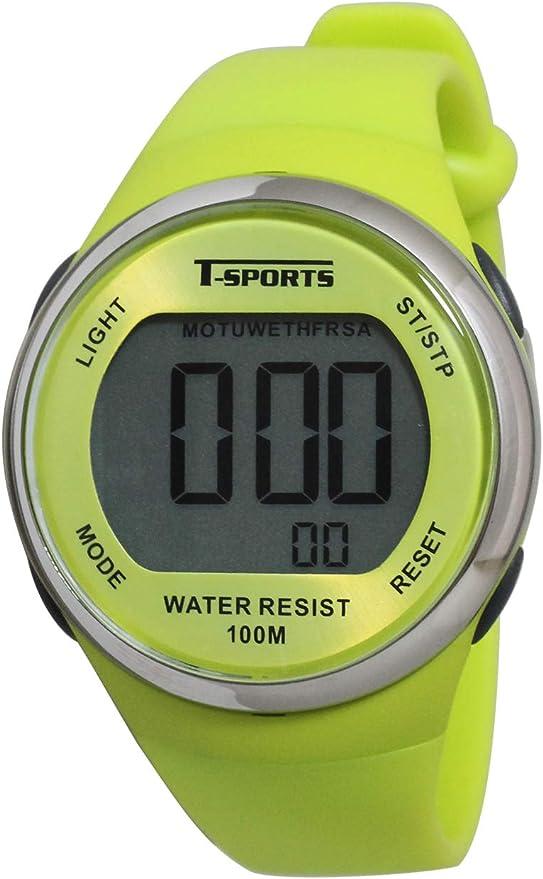 [クレファー] 腕時計 デジタル 防水 多機能 長持ち 10年電池 ウレタンベルト AZ-TS-D032-YW-P メンズ イエロー