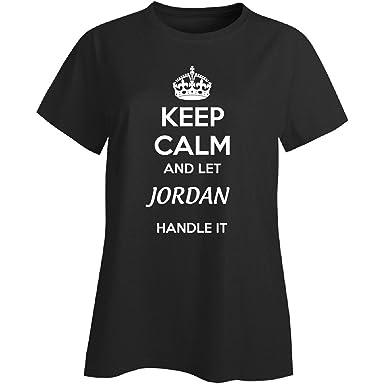 07b4835ce7d ... Keep Calm And Let Jordan Handle It - Ladies T-shirt Ladies 4xl Black; Jordan  Clothing ...