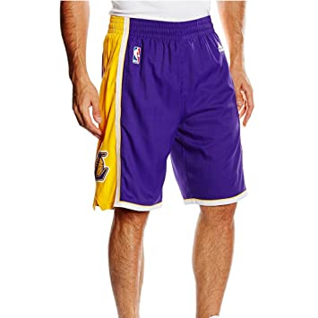 adidas Herren Intnl Swingman Shorts NBA Laker  Amazon.de  Sport ... bbd36144d3