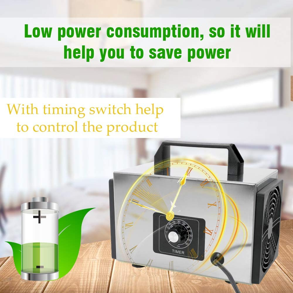Questo ozonizzatore è in grado di igienizzare anche intere camere, stanze ed uffici.