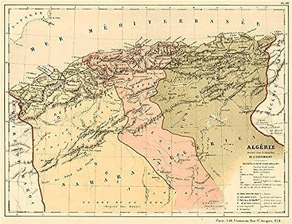 ALGERIA Provinces Oran Constantine Alger Algrie CORTAMBERT