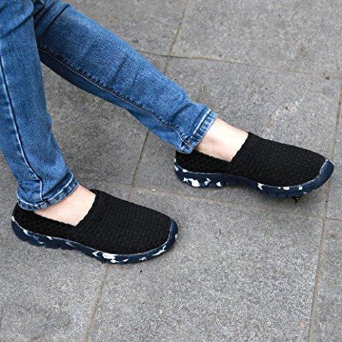 Maille Les Noir Respirante Lger Chaussures Bouche Confort Wuayi Sur De Mocassins Appartements Glisser Tisses Femmes D'eau Sport lastique Peu Profonde xqwHB64IHz