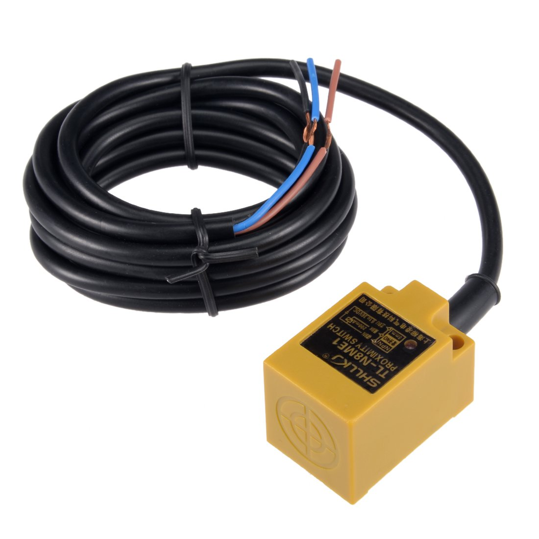 uxcell 8mm Inductive Proximity Sensor Switch Detector NPN NO DC 6-36V 200mA 3-Wire TL-N8ME1