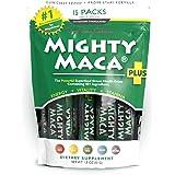 Mighty Maca Plus - 15 Travel Packs Delicious, All-Natural, Organic Maca Superfoods Greens Drink, Allergen & Gluten Free, Vega