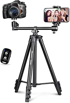 UBeesize 50-inch Phone Tripod Stand with Extended Arm
