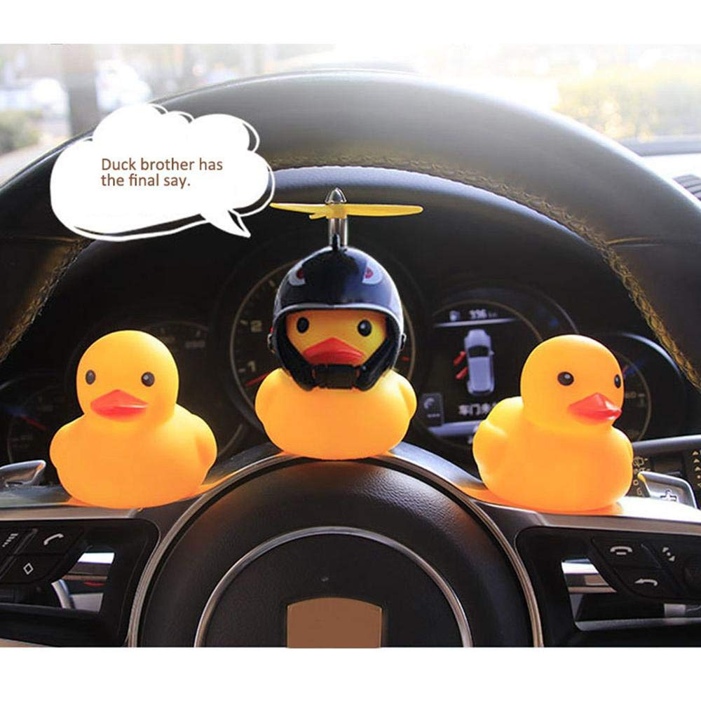 Cute Bicycle Light Bell Toy for TToddler Children Adults Cycling Light Rubber Duck Helmet Decor FOONEE Rubber Duck Mini Bike Squeeze Horn