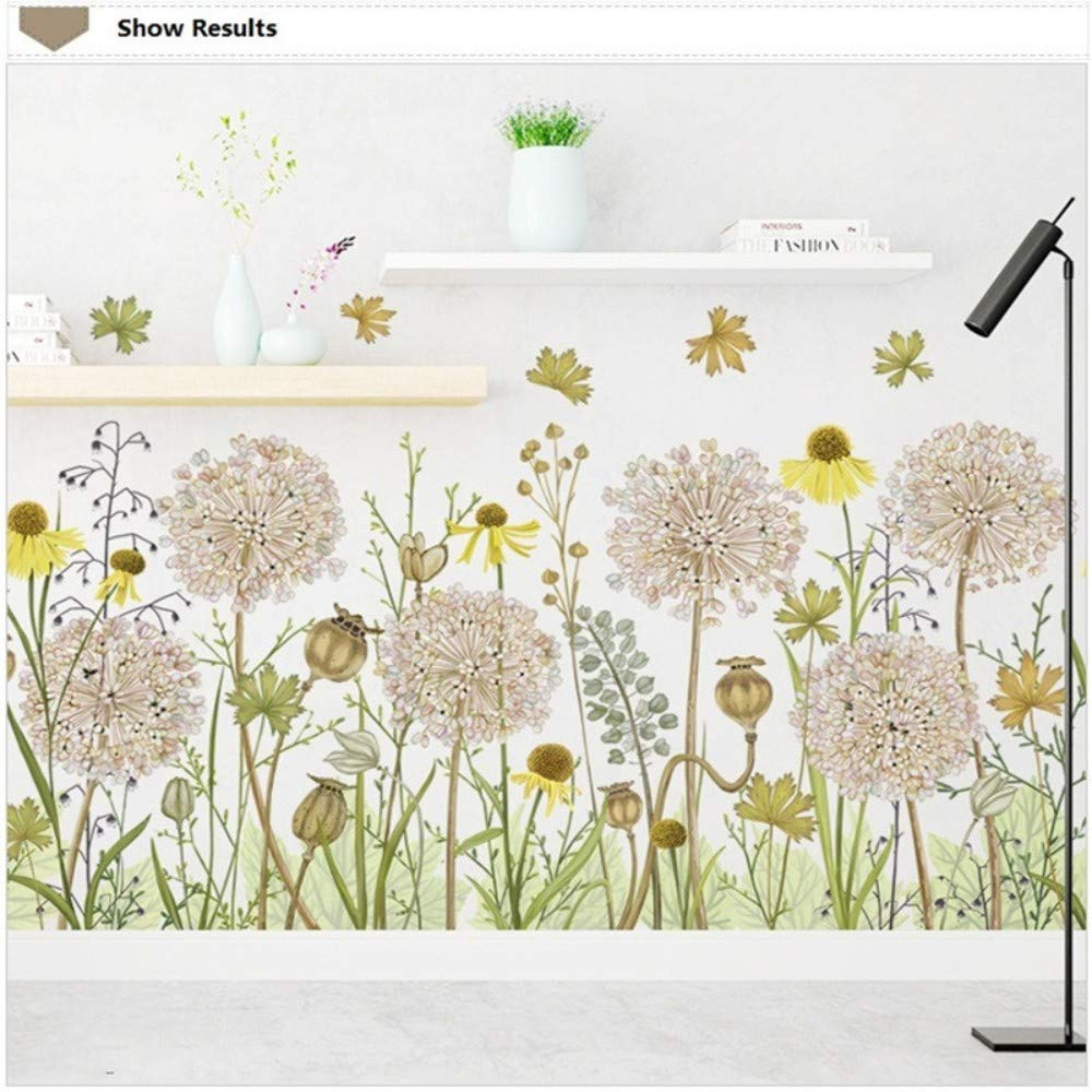 Amazon.com: Bdhnmx Hand Paint Style Plants Wall Sticker Literary Leave Modern Living Room Decoration Bedroom Background Nordic Mural Art Poster: Baby