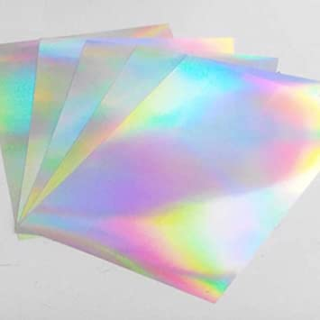 A4 Inkjet Printable Holographic Sticker Paper Labels 5 Sheets