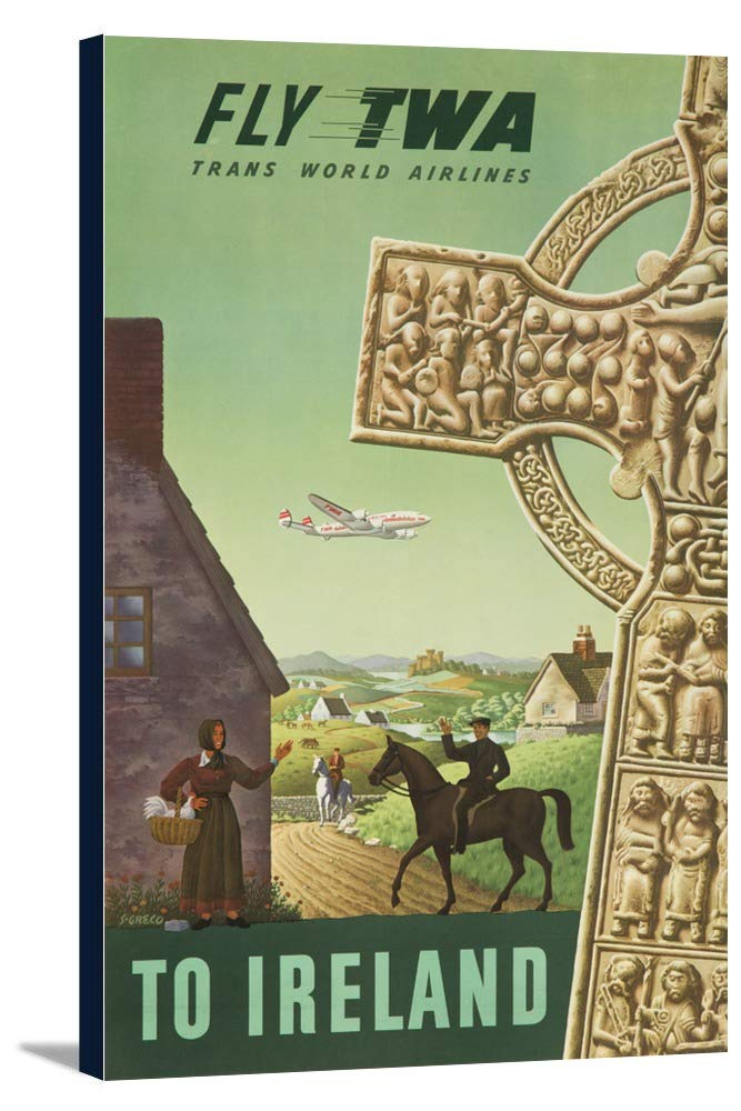 Twa – アイルランドヴィンテージポスター(アーティスト: Greco ) USA C。1956 22 1/4 x 36 Gallery Canvas LANT-3P-SC-62520-24x36 22 1/4 x 36 Gallery Canvas  B0184AYDNM