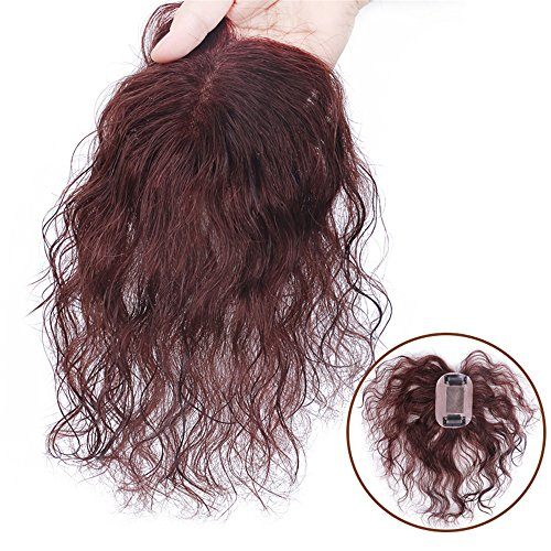 Susanki Hand Made Mono Curly Human Hair Clip in Toppers Wiglet for Women with Thinning Hair (8