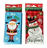 Arts & Crafts : Santa and Snowman Money Holder Cards with Envelopes 16 count, 2 packs of 8
