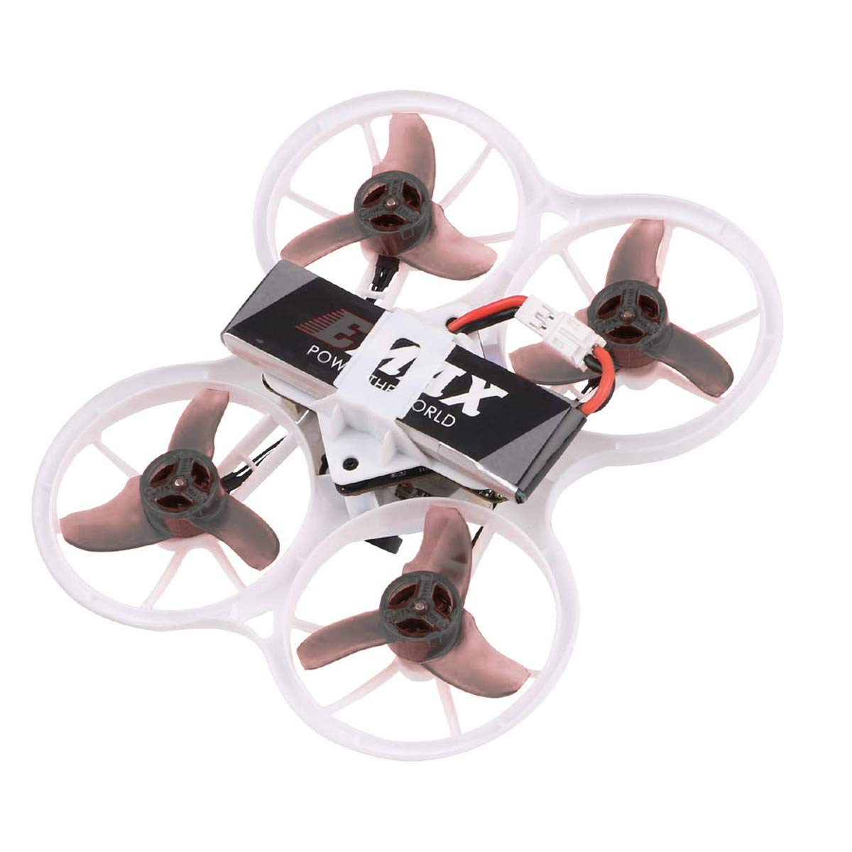 EMAX Tinyhawk Brushless Micro Indoor Racing Drone Whoop 75mm BNF FRSKY BNF Like Tiny Whoop Brushless with 450mah 1s 4.35v HV Battery Plus Crazepony 600mAh 1S 3.7V LiPo Battery Propellers