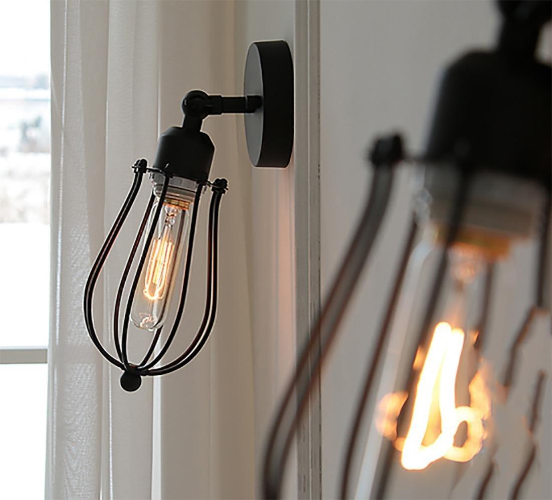 MIWENModernen Einfache Persönlichkeit Kunst Mode Wandleuchte Schlafzimmer Bett Wohnzimmer Treppe Gang Licht Eisen Lampen LED Wandleuchte 30  12  12cm E27