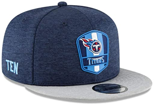 cb47534c New Era Tennessee Titans 2018 NFL Sideline Road Official 9FIFTY Snapback  Hat : OSFM