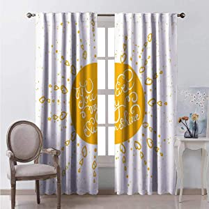 June Gissing Heart Shaped Sunbeams Curtains/Panels/Drapes Fashion Darkening Curtains W55 x L39 Suitable for Living Room, Dining Room, Bedroom