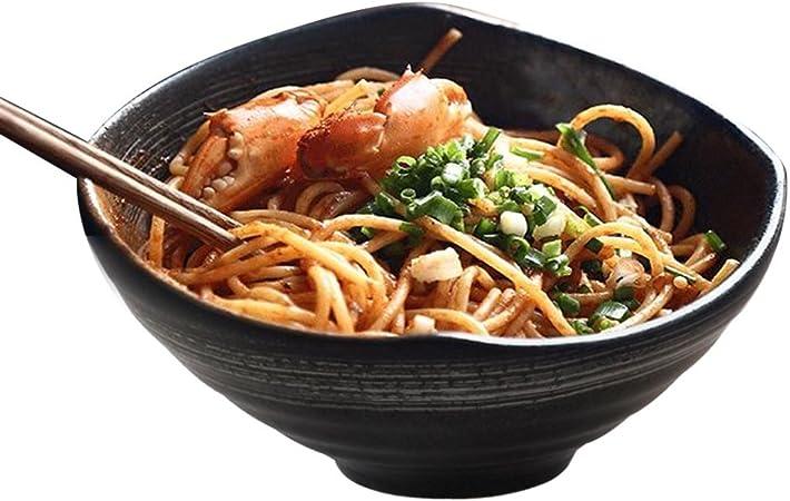 Bamboo bol en bois style Japonais Chinois écope soupe nouilles bois Salade M