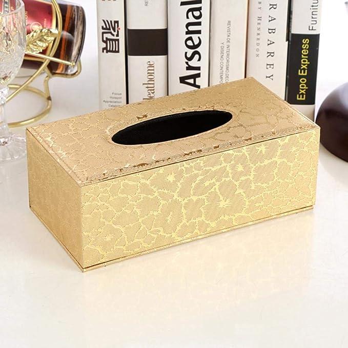 20 x 12 x 9.5 cm Marr/ón Caja de Pa/ñuelos Caja de Cuero para Toallas de Papel para Decoraci/ón Hogar y Oficina