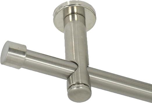 Gardinenstange 16 mm mit Endkappe aus Metall Edelstahl Design