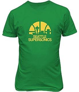 Amazon.com   Mitchell   Ness Seattle Supersonics Cropped Split ... 92e14f230c9d