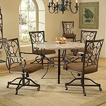 Amazon.com - Hillsdale Brookside 5 Piece Round Dining Set w ...