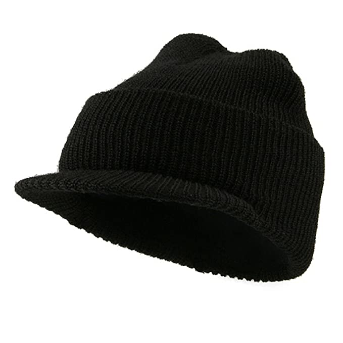 Amazon.com  Military Wool Jeep Cap - Black  Clothing 819544e4584