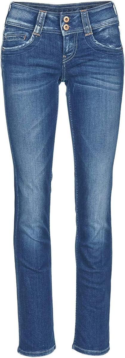 Pepe Jeans Damen Gen Straight Jeans Blau Denim H06