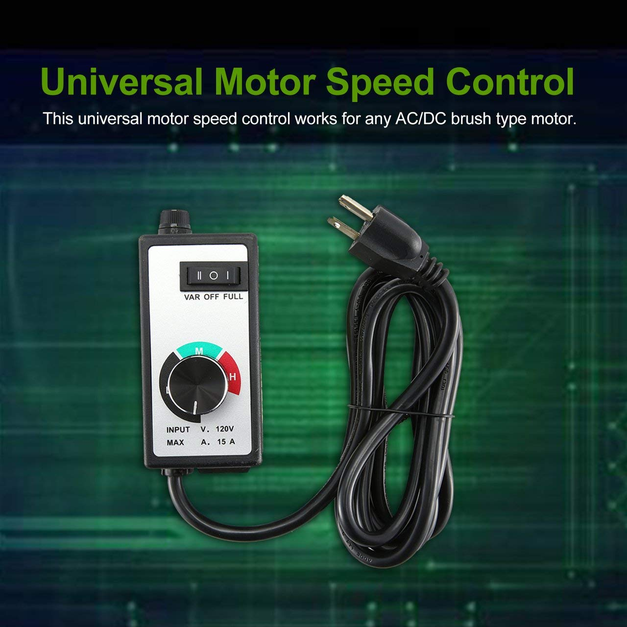 Variable Router Speed Control w// DC or AC Motor and 6ft Cord