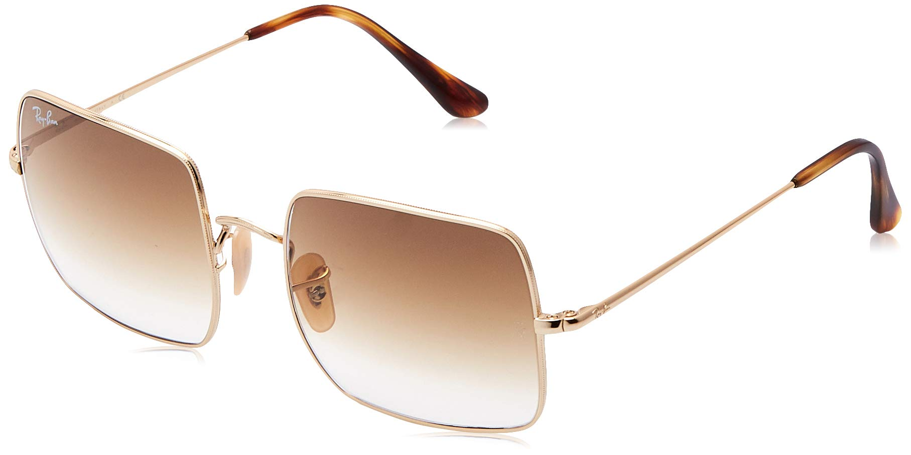 RAY-BAN RB1971 Square Classic Metal Sunglasses, Gold/Brown Gradient, 54 mm by RAY-BAN
