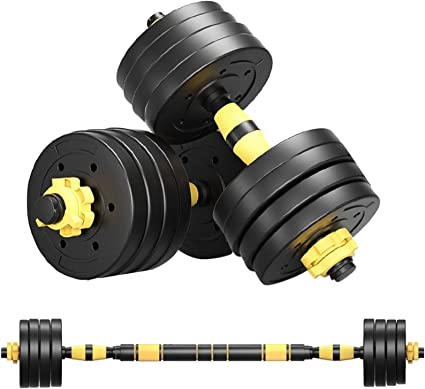 88lbs Pair Adjustable Dumbbell Set Combination Barbell Non-slip Hand Barbell Gym