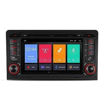 junhua 7 Android 7.1 Auto Radio DVD GPS Navi para Audi A3 S3 RS3 8P